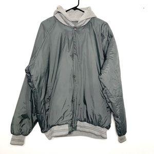 CABELA'S Mens Gray Hooded Sweater Jacket XLarge
